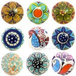 Ceramic Cabinet Cupboard Door Dresser Knobs Pulls Decorative Shabby Chic Colorfu Ebay
