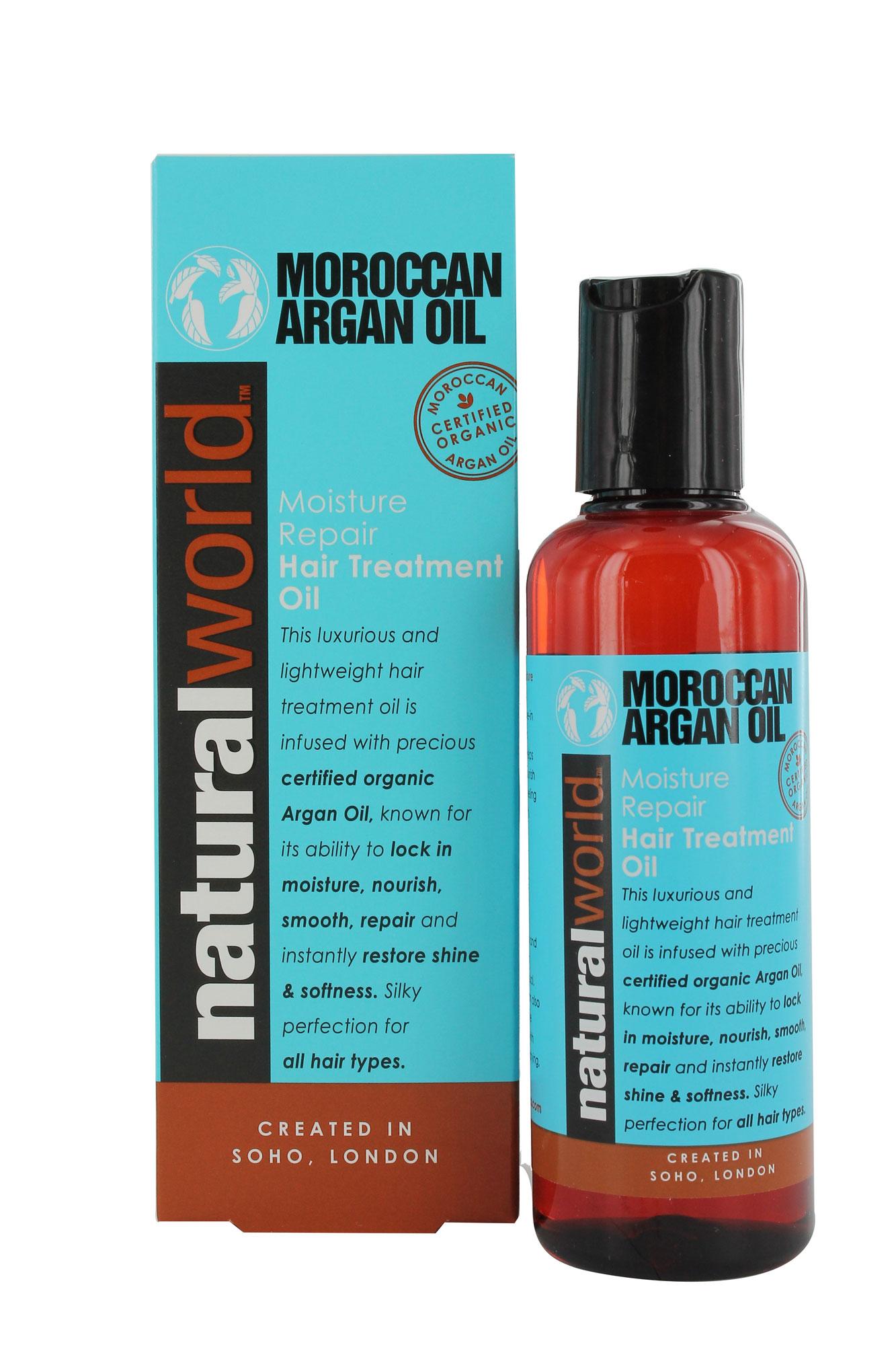Natural World Moroccan Argan Oil Moisture Repair Hair