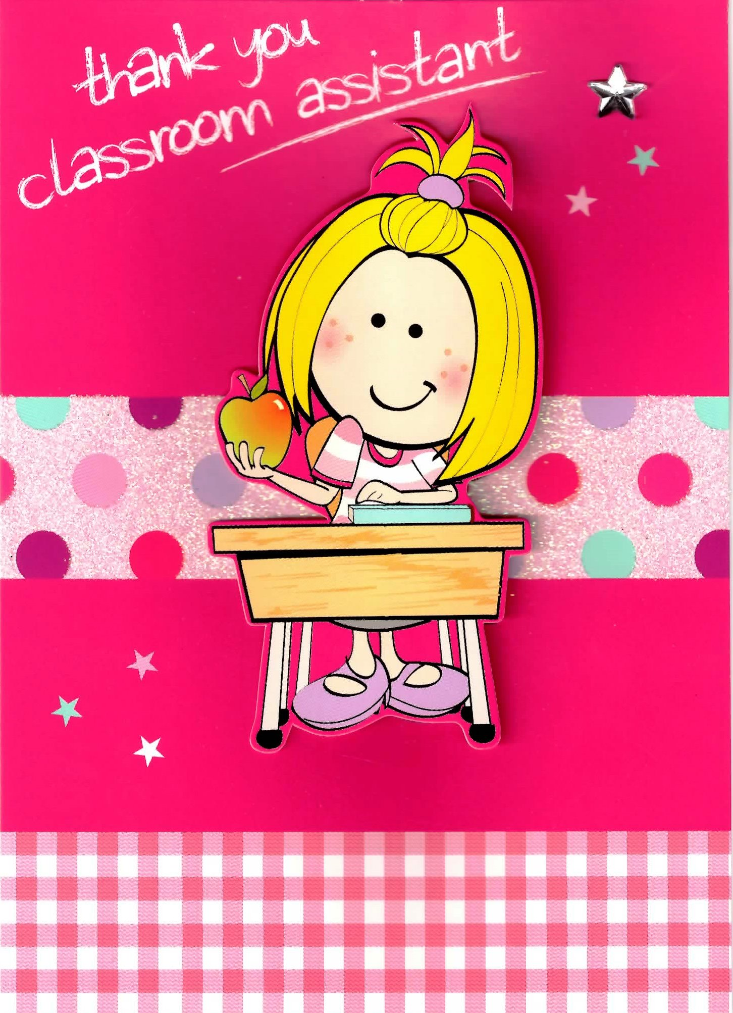 Girl Thank You Classroom Assistant Greeting Card