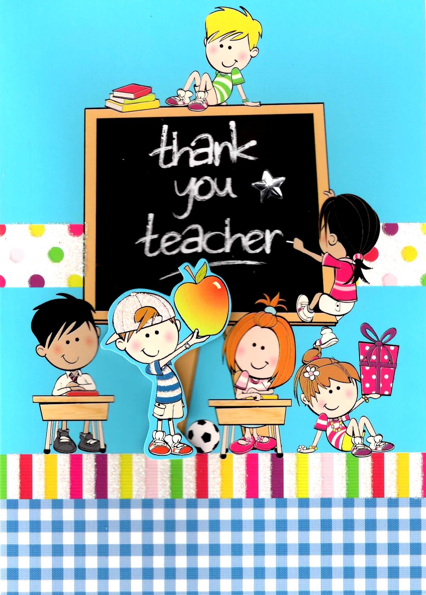 Cute 3d Thank You Teacher Greeting Card Teachers Teaching