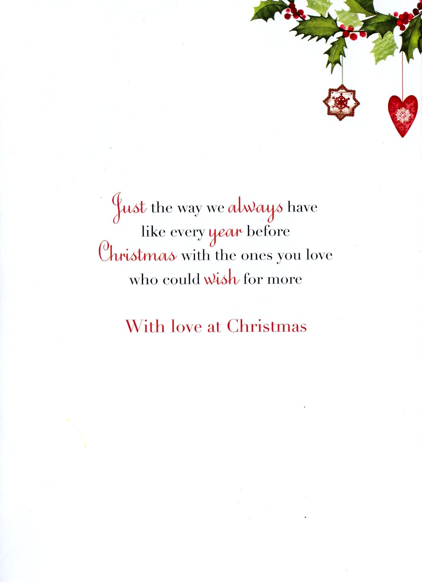 Son Amp Daughter In Law Christmas Greeting Card Traditional