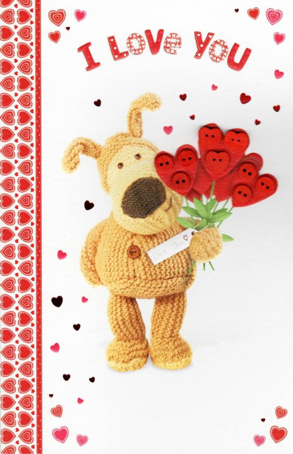I Love You Boofle Valentines Day Card Cards Love Kates