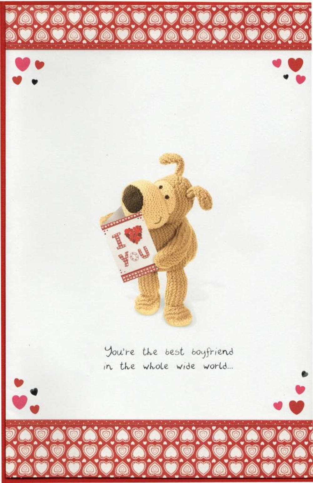 To My Gorgeous Boyfriend Boofle Valentines Day Card