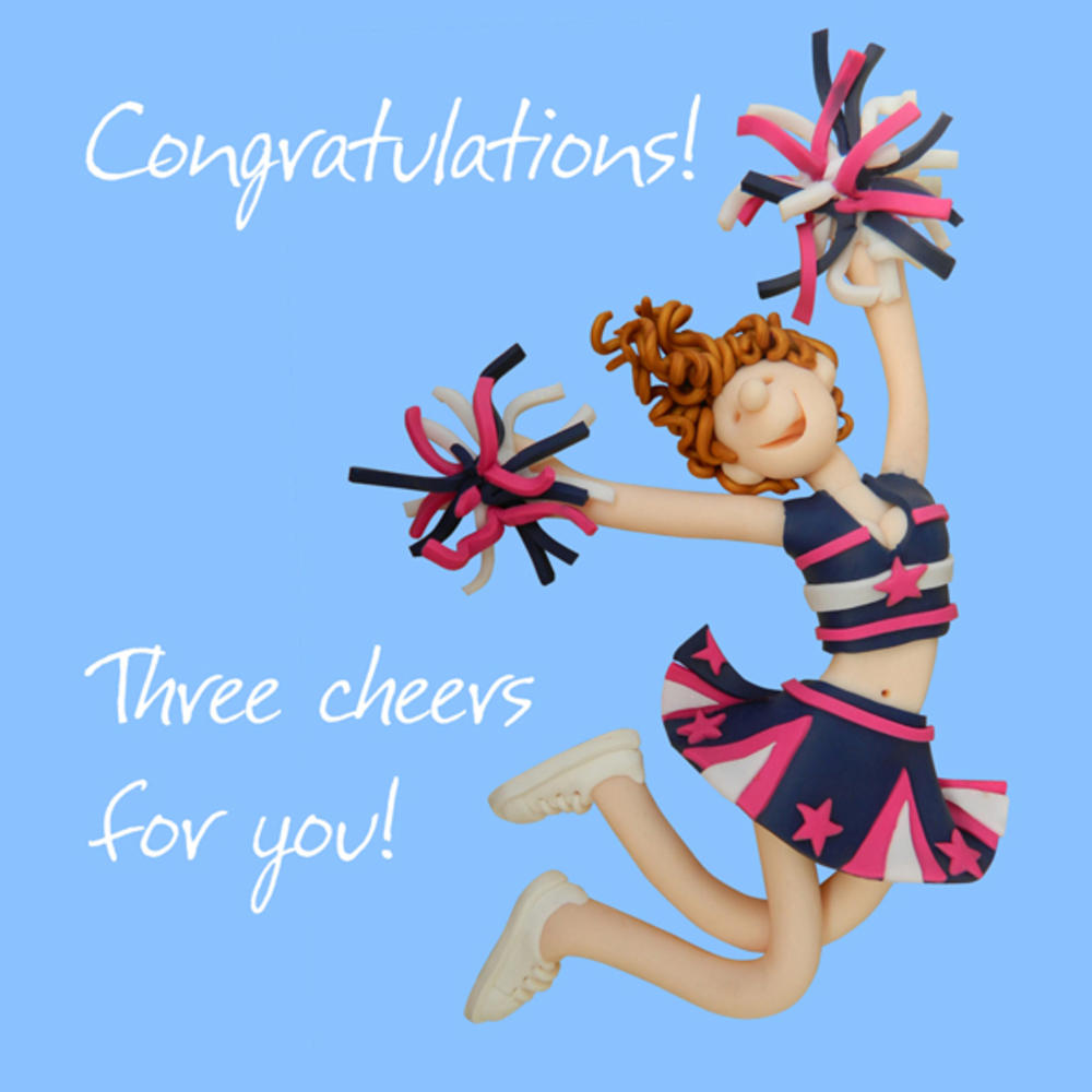 Congratulations Three Cheers Greeting Card One Lump Or Two
