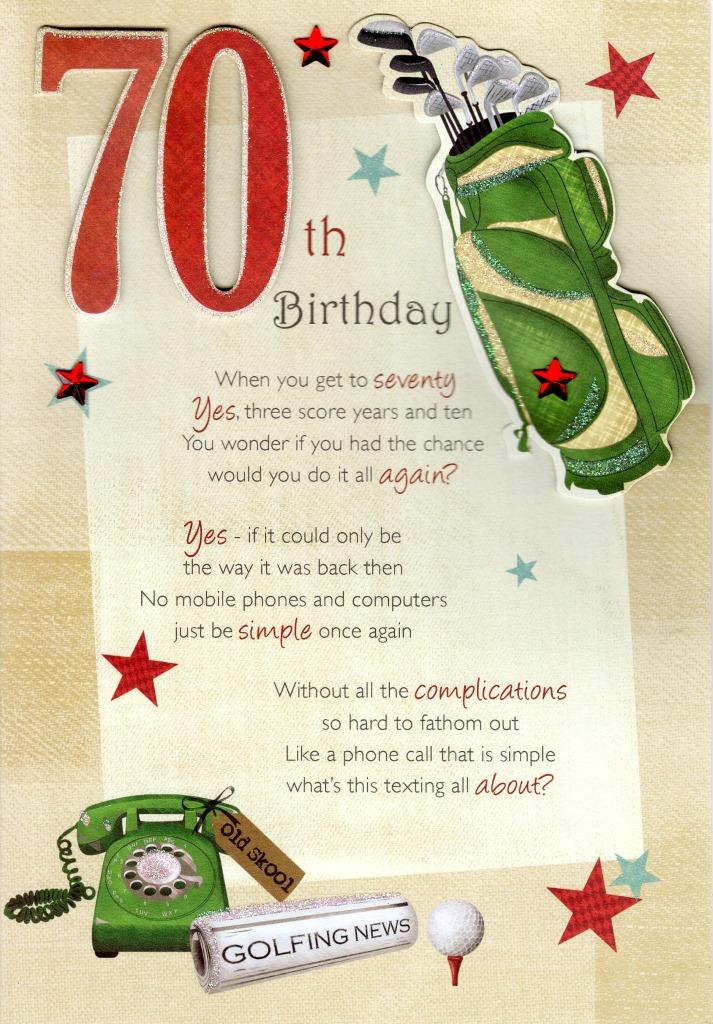 70th Happy Birthday Greeting Card Cards Love Kates