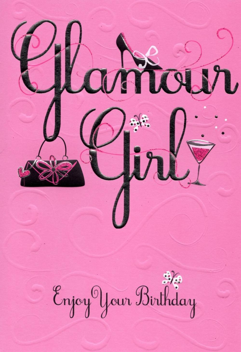 Glamour Girl Enjoy Your Birthday Greeting Card Cards