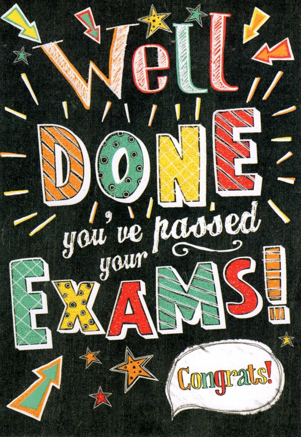 Well Done Youve Passed Your Exams Congrats Greeting Card