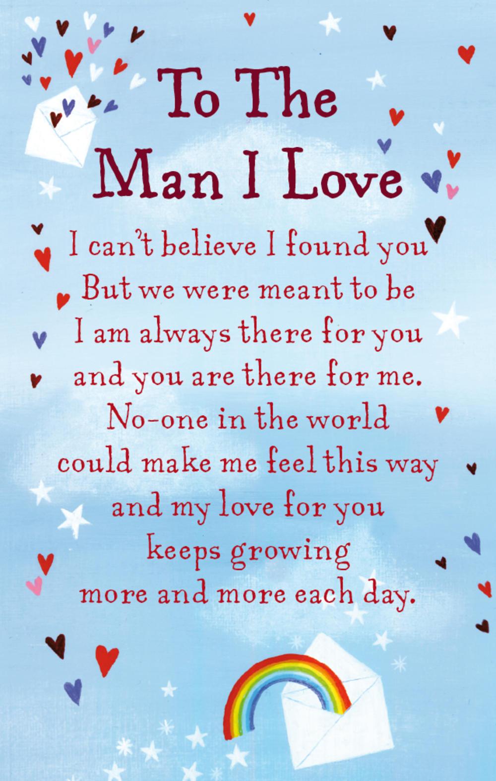 To The Man I Love Heartwarmers Keepsake Credit Card