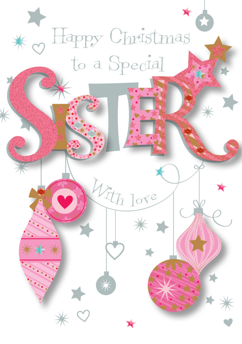 Special Sister Happy Christmas Greeting Card Cards