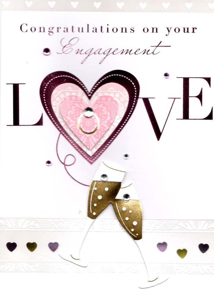 Congratulations On Your Engagement Greeting Card Cards