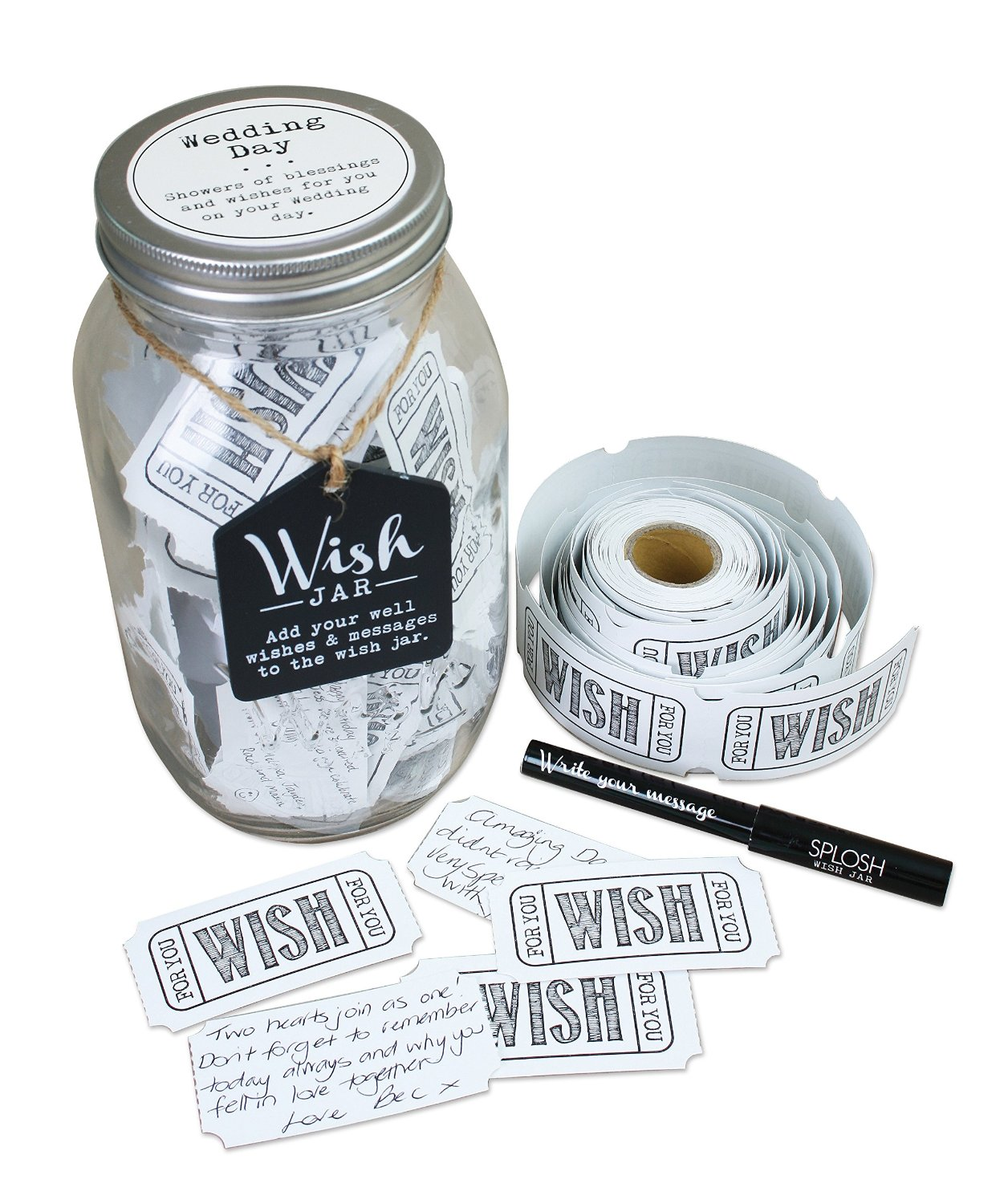 Splosh Wedding Wish Jar Gift Idea Gifts Love Kates