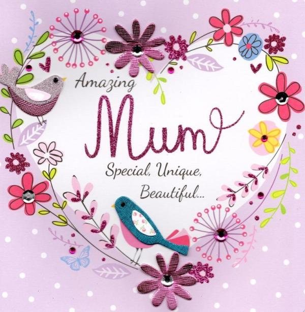 """Amazing Mum 8"""" Square Happy Mother's Day Card 