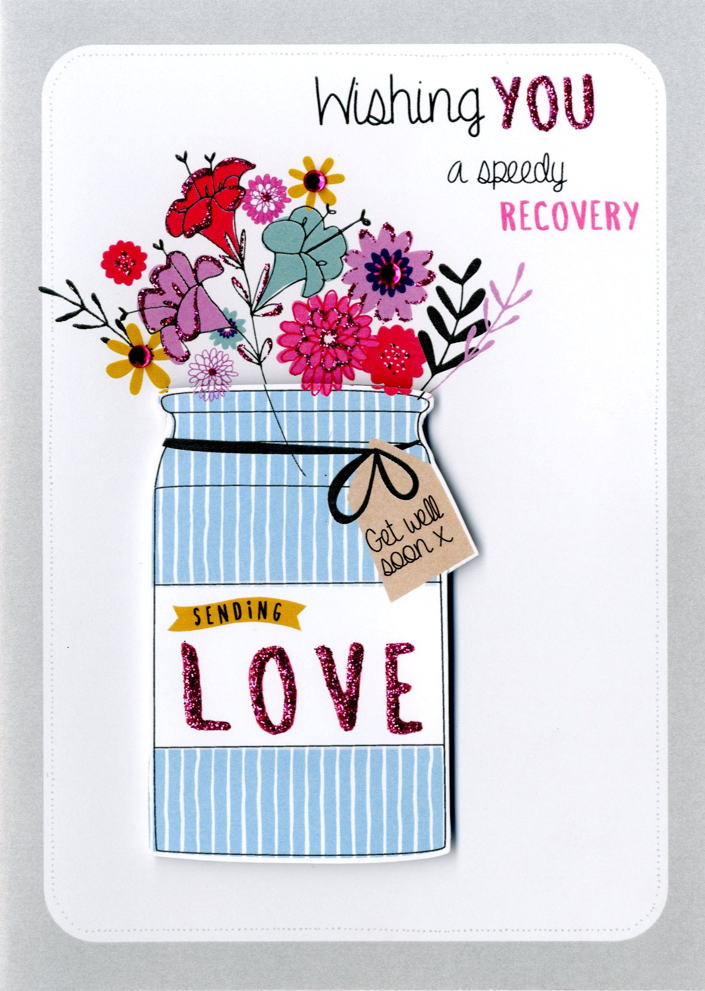Speedy Recovery Get Well Greeting Card Cards