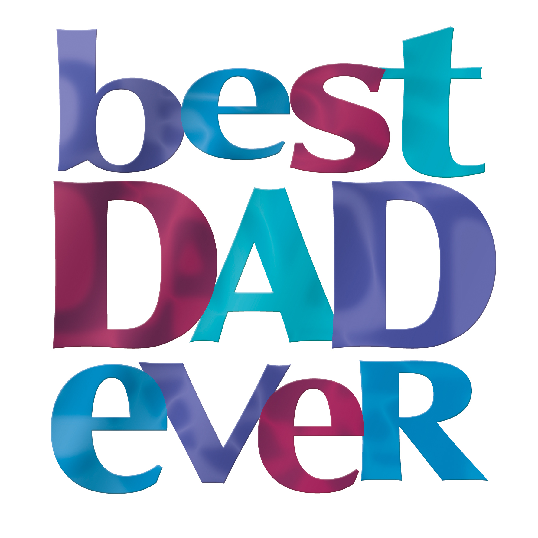 Best Dad Ever Fathers Day Square Script Greeting Card Cards
