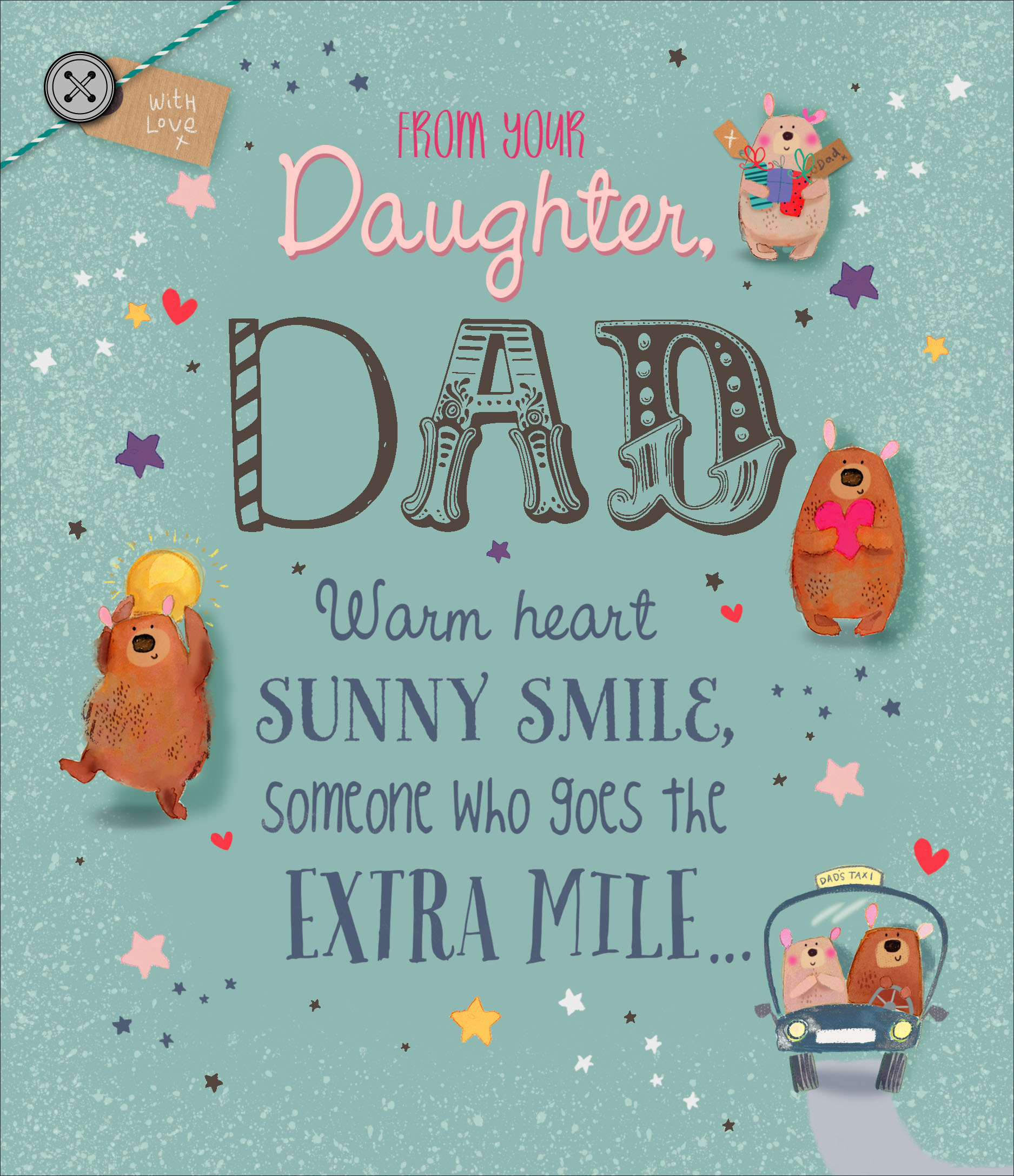 To Dad From Daughter Father S Day Card