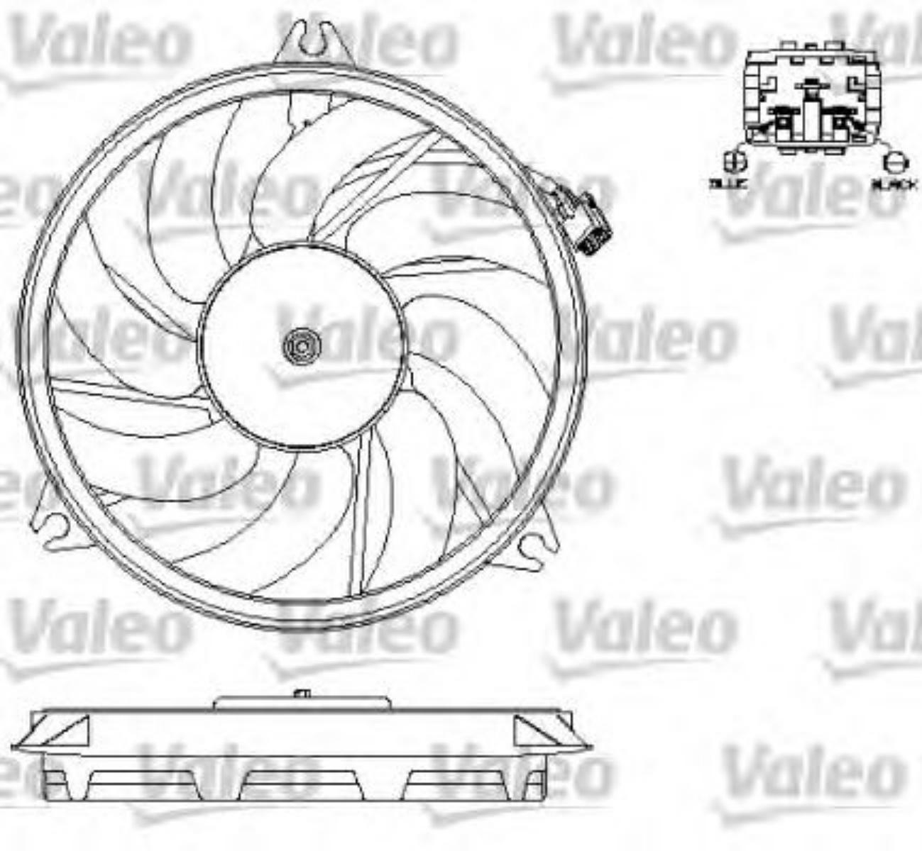 Valeo Radiator Fan Peugeot 206 1 4 Hdi Eco 70 1 1