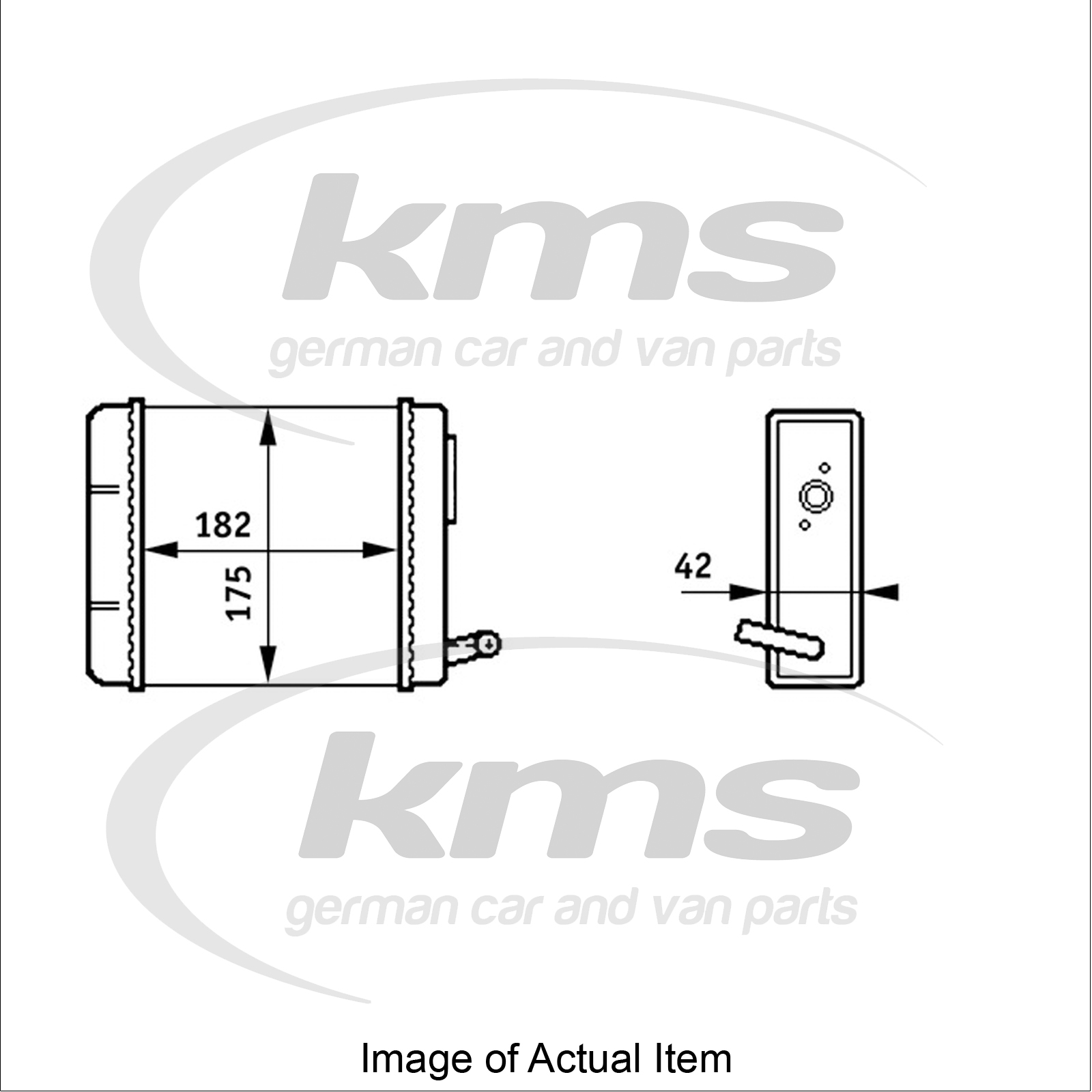 New Genuine Hella Heater Radiator Matrix 8fh 351 313 211