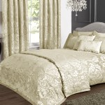 Deluxe Boston Jacquard Damask Double Bedspread In Cream Bedspreads Bedding Direct Uk
