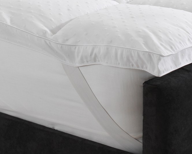 Embossed Therapeutic 4cm 1 5 Deep Mattress Topper With Elasticated Corner Straps