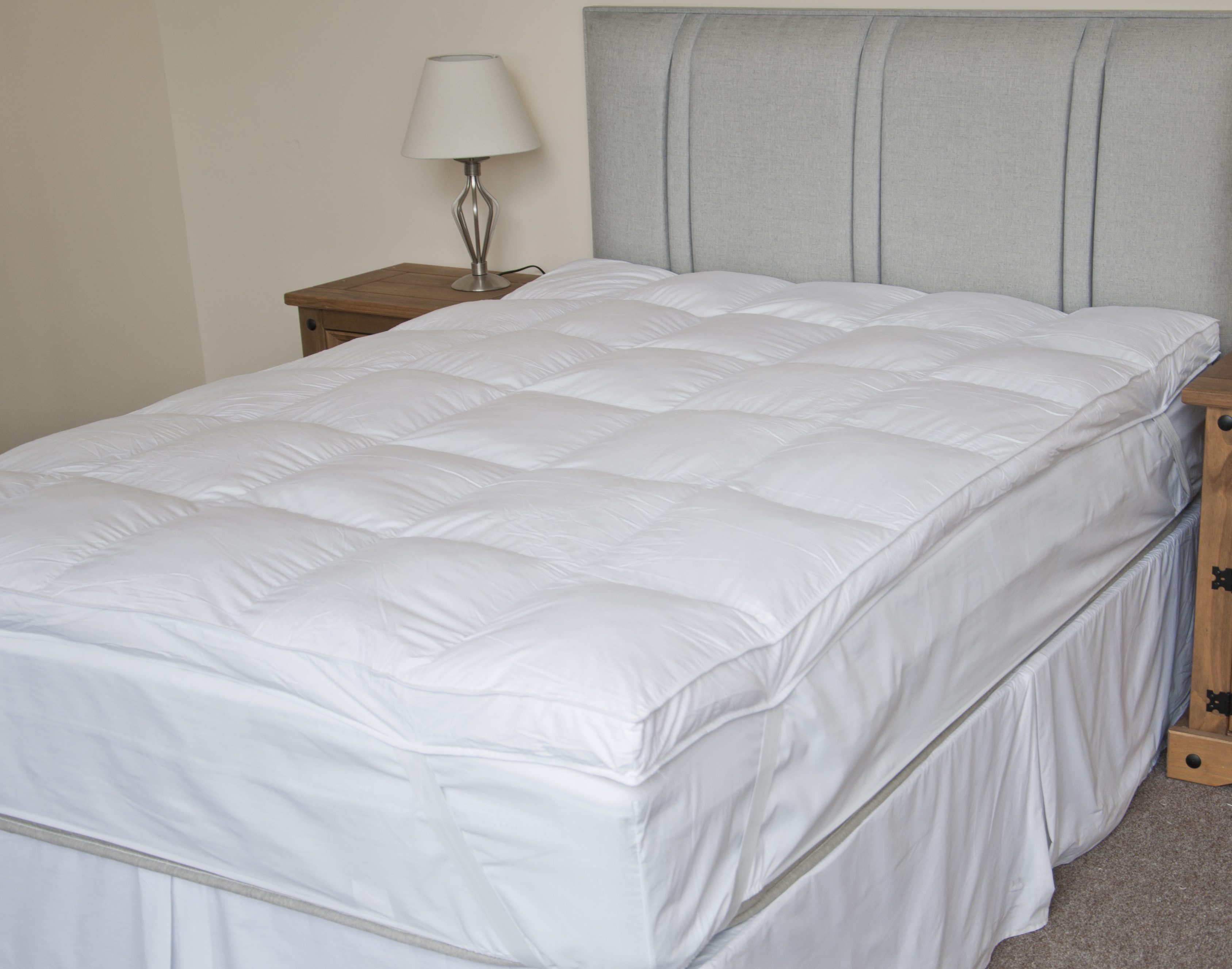 Luxury Extra Thick Duck Feather Mattress Topper Double