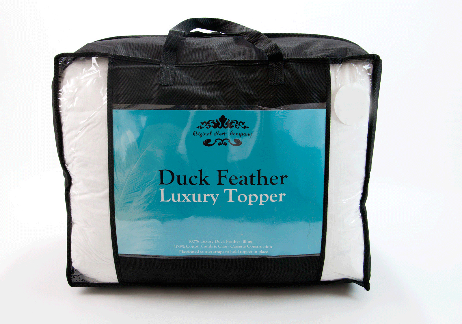 Luxury Extra Thick Duck Feather Mattress Topper King Size