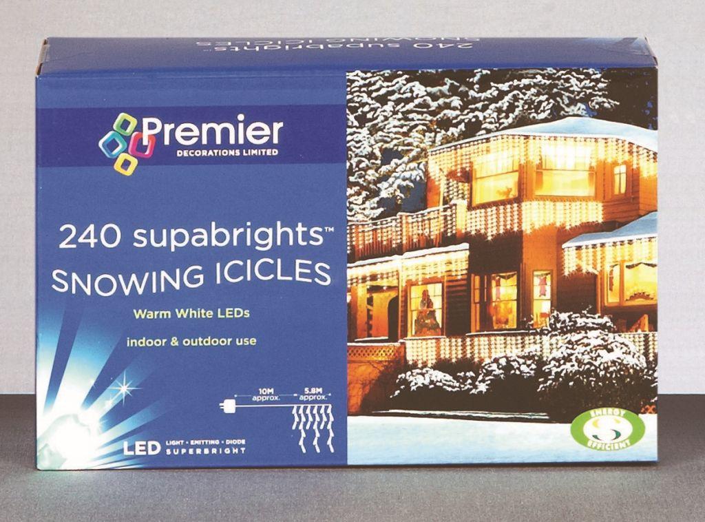 Premier Snowing Icicles 240 LED Blue & White – LV062392BW