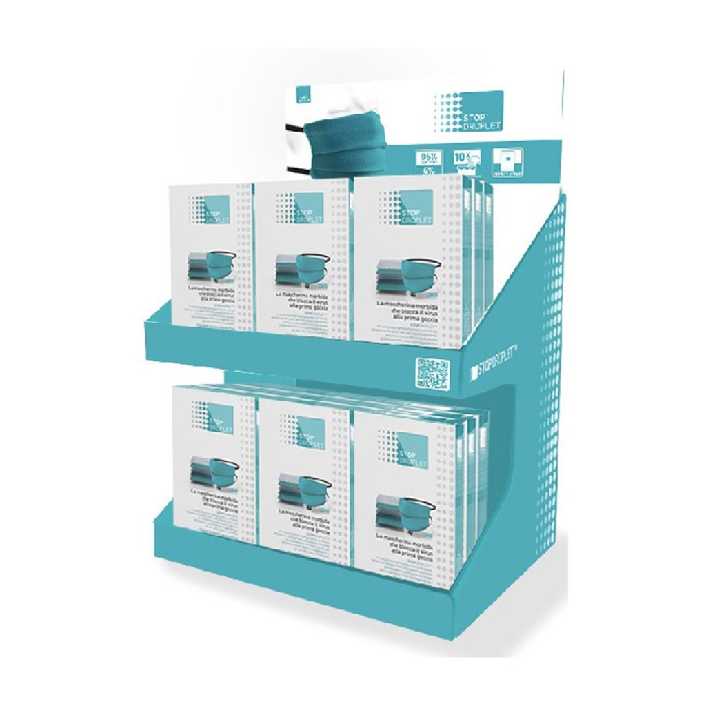 Cotton Face Mask Display Stand – Single [STOPDROPDISPLAY]