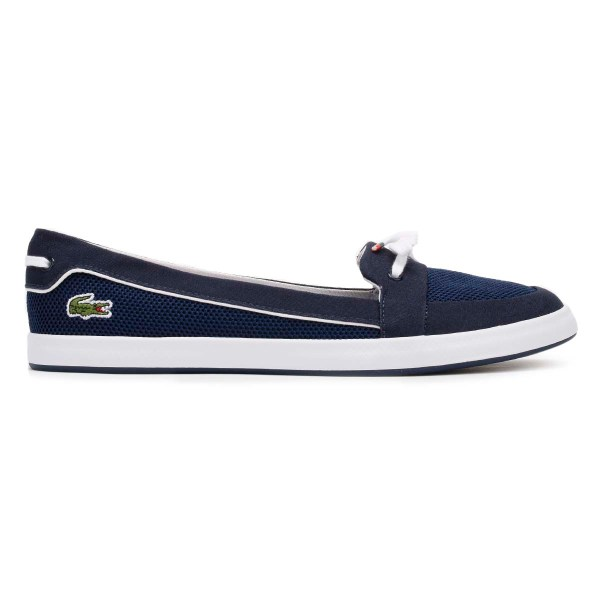 Lacoste Womens Boat Shoes, Navy Blue, Lancelle 117 1 CAW ...