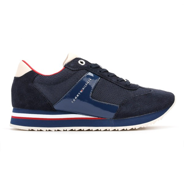 Tommy Hilfiger Womens Trainers, Navy Blue, 1C1 Runner ...