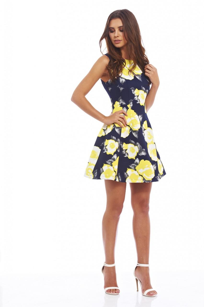 Navy Floral Dresses Uk