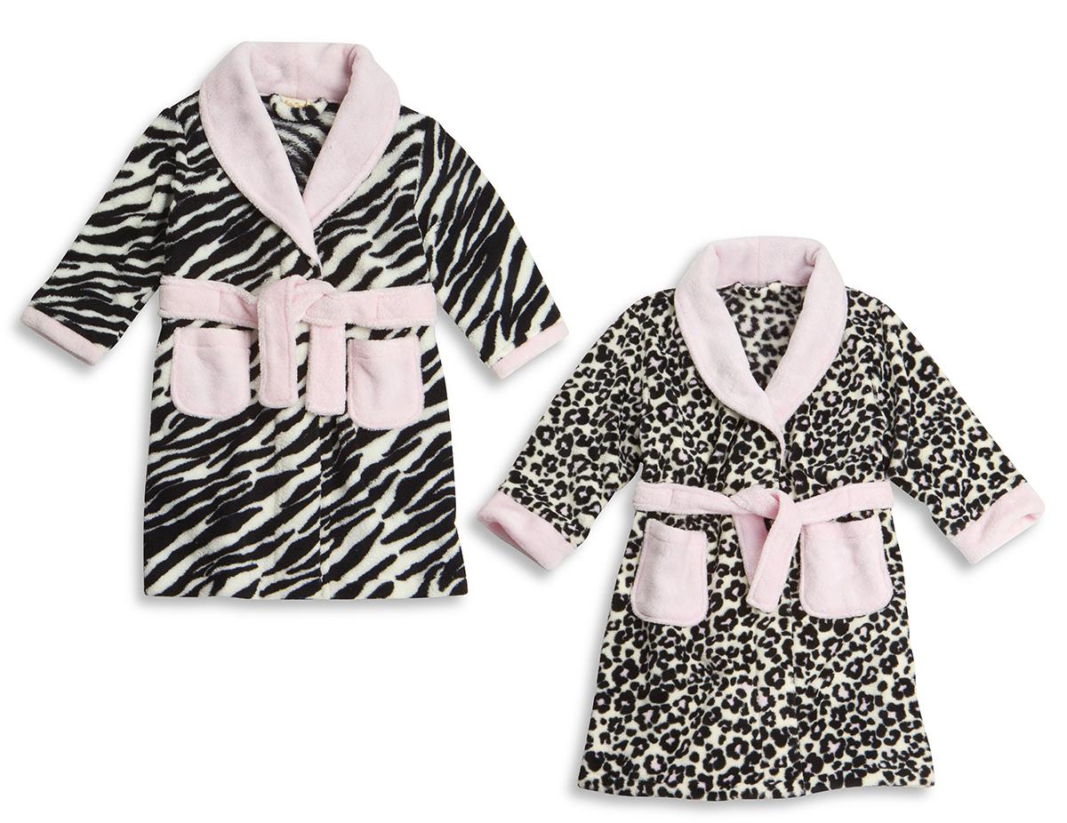 BABYTOWN Baby Girl New Animal Print Fleece Dressing Gown