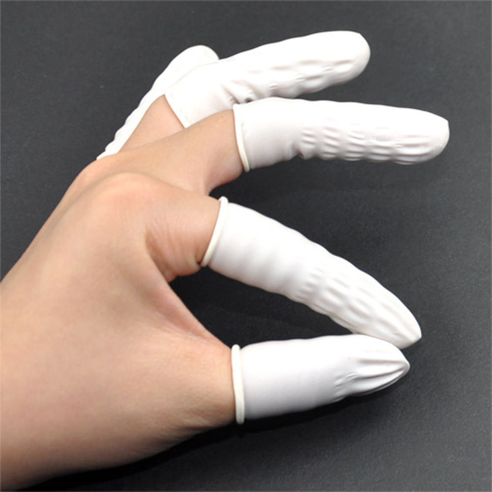 White Latex Rubber Finger Cot Gloves Finger Amp Nail