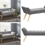 Milan Upholstered Bench Window Seat Black Leather Grey Hopsack Silver Chenille Ebay
