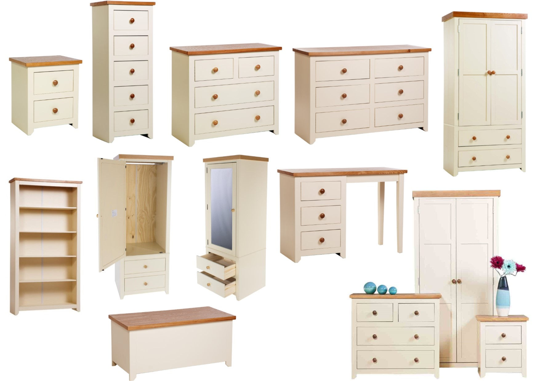 jamestown cream oak quality country farmhouse bedroom on country farmhouse furniture id=88748