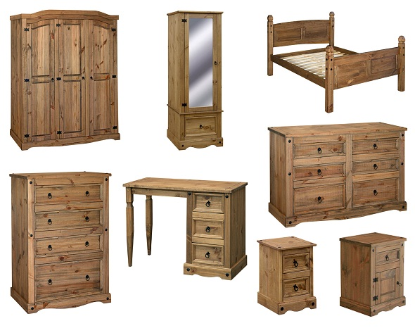 details about premium quality corona pine mexican bedroom furniture wardrobes drawers beds