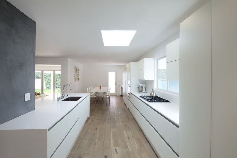 White Kitchen White Floor