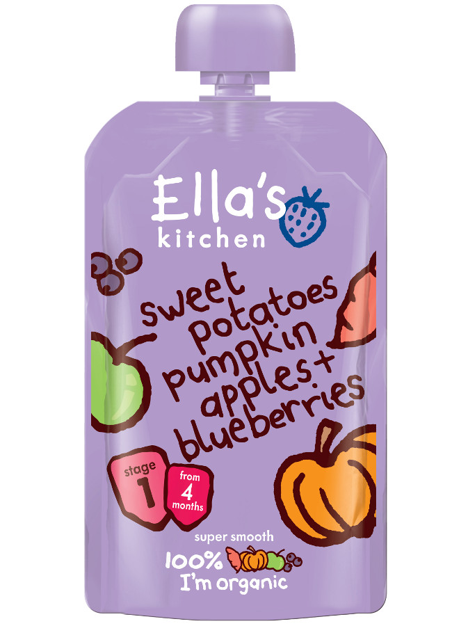 Ella Kitchen Sweet Potato Pumpkin Apple Blueberries 120g