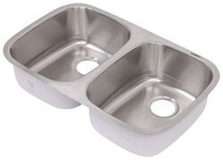 double bowl rv kitchen sink 29 1 4 long x 18 1 2 wide stainless steel