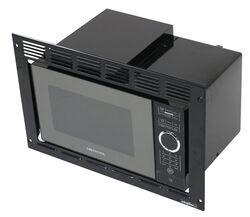 greystone standard rv microwave w trim kit 1 350 watts 0 9 cu ft black