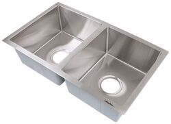 better bath double bowl rv kitchen sink 27 long x 16 wide stainless steel