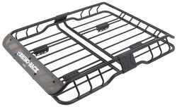 rhino rack roof mounted steel cargo basket 47 long x 35 wide 165 lbs