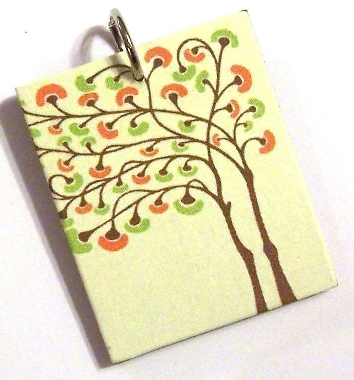 Mod Tree On Yellow Pendant