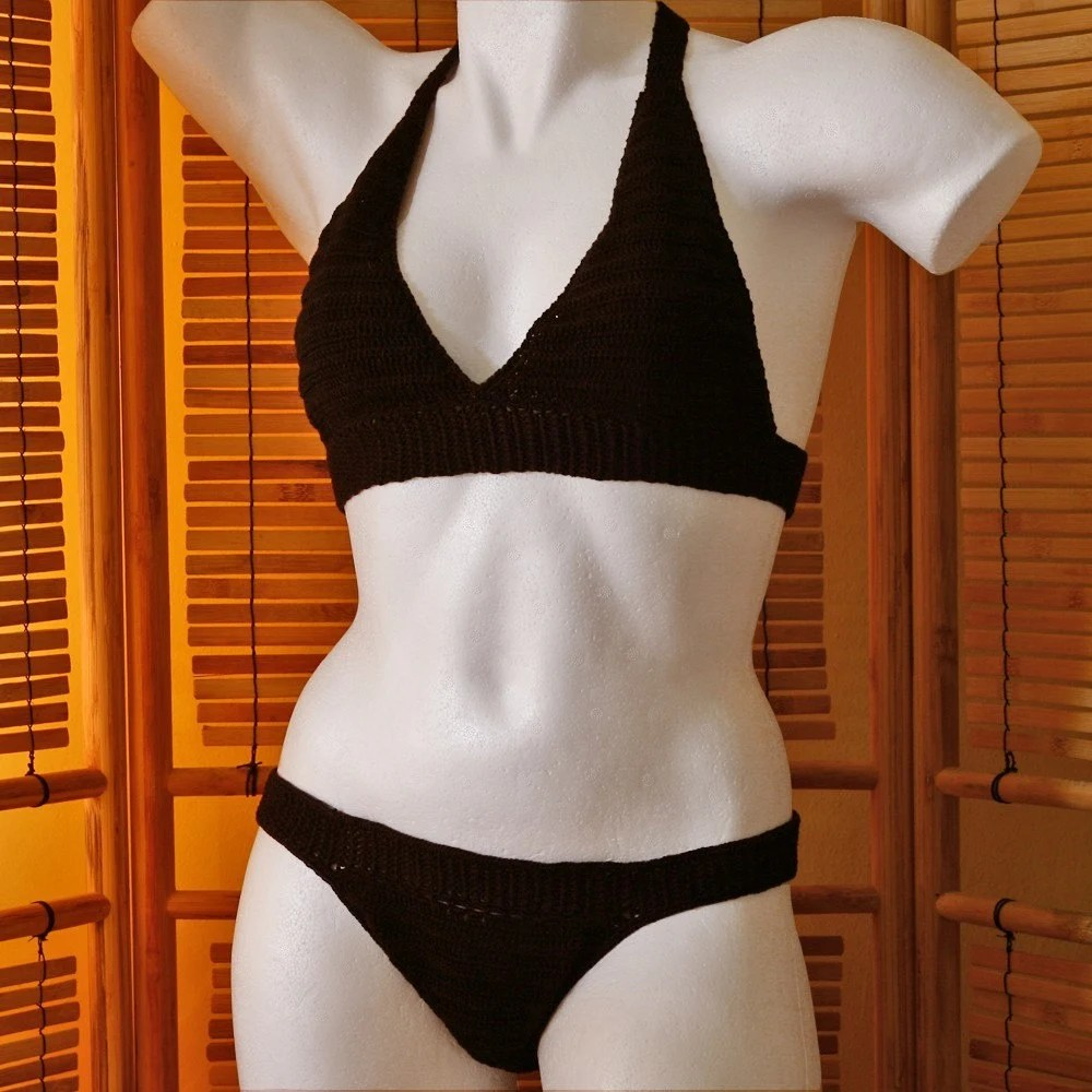 The Josefina - Licorice Crochet Bikini