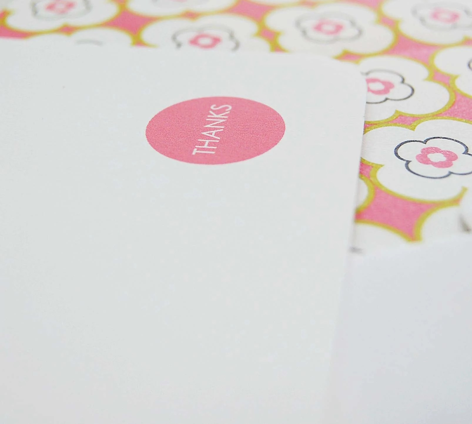 Blossom and White Flat Thank You Cards