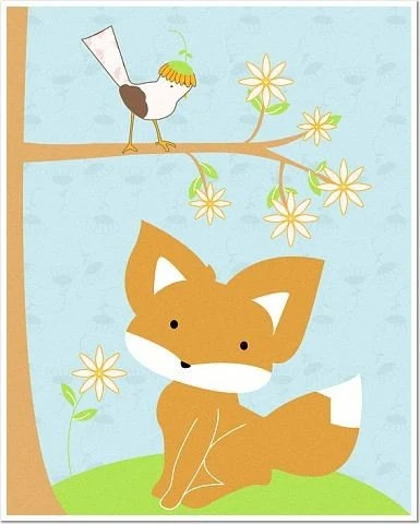 Foxie Spring 8 x10 Matte or Glossy Photo Poster