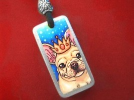 Kayann Works Spoiled French Bulldog Pendant