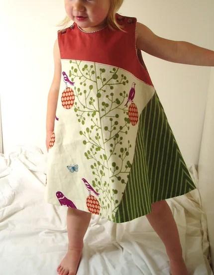 Birds and Butterflies Go Modern Swing Jumper Dress, ON HOLD FOR JCOLLIER, DO NOT PURCHASE