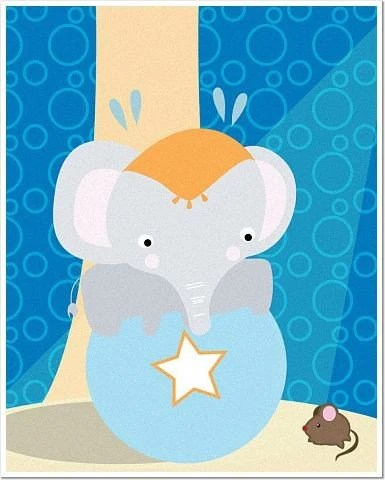 Circus Elephant 8 x 10 Matte or Glossy Photo Poster