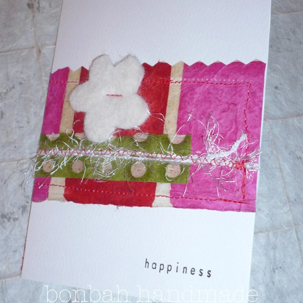 stripes and flower card