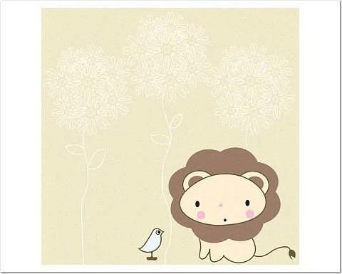 Little Birdie with Little Lion